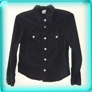 True Religion black corduroy Western shirt boys L